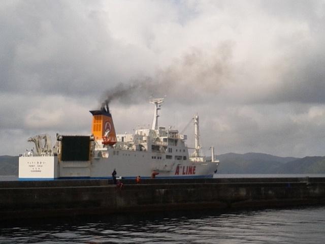 10月28日(水)、フェリーきかい下り入港案内